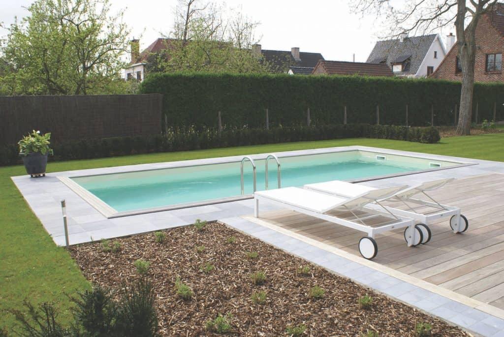 Zelfbouw zwembad in uw tuin - Rhodos.nl